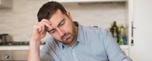 Concerned man considers debt avalanche method